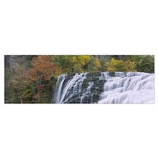 Waterfall on a mountain, Ithaca Falls, Tompkins Co Poster