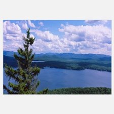 High angle view of a lake, Piseco Lake, Adirondack