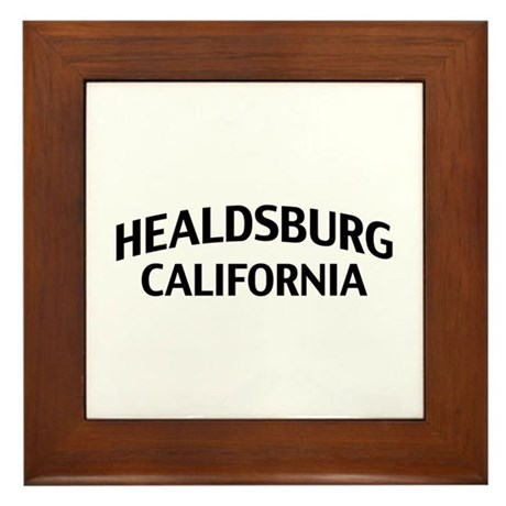Healdsburg California Framed Tile