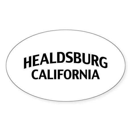 Healdsburg California Sticker (Oval)