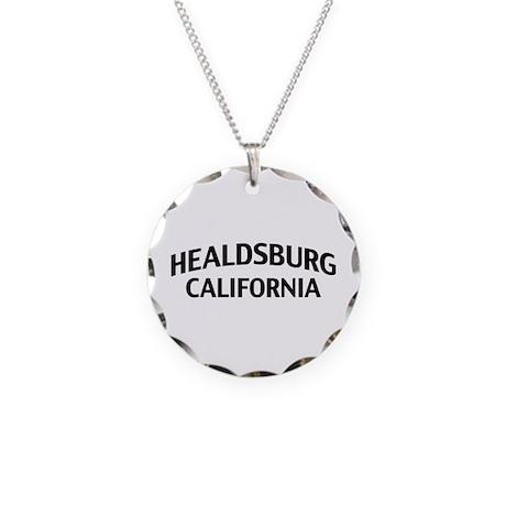 Healdsburg California Necklace Circle Charm