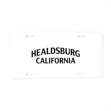 Healdsburg California Aluminum License Plate