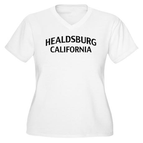 Healdsburg California Women's Plus Size V-Neck T-S