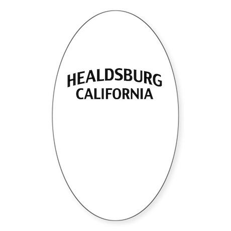 Healdsburg California Sticker (Oval)