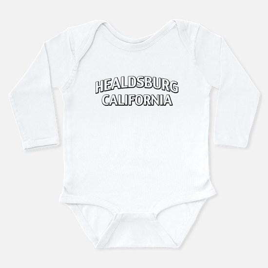 Healdsburg California Long Sleeve Infant Bodysuit