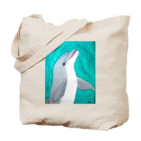 Laughing Dolphin Tote Bag