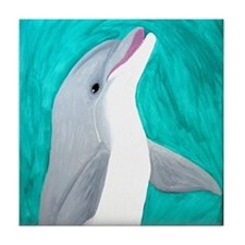 Laughing Dolphin Tile Coaster