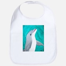 Laughing Dolphin Bib