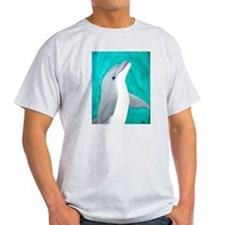 Laughing Dolphin Ash Grey T-Shirt
