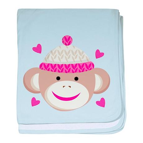 Sock Monkey Cute baby blanket
