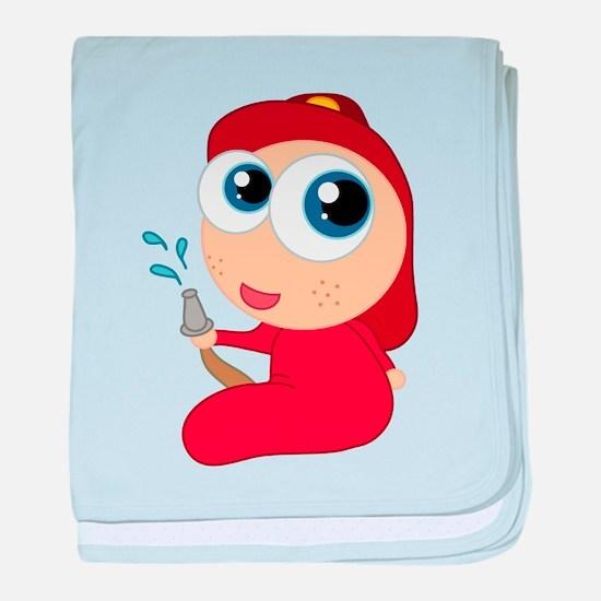 Cute Firefighter Baby baby blanket