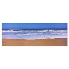 Surf on the beach, Playlinda Beach, Canaveral Nati Poster