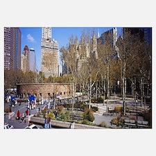 Tourists in a public park, Battery Park, Manhattan