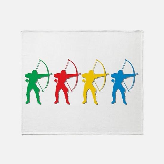 Archery Archers Throw Blanket