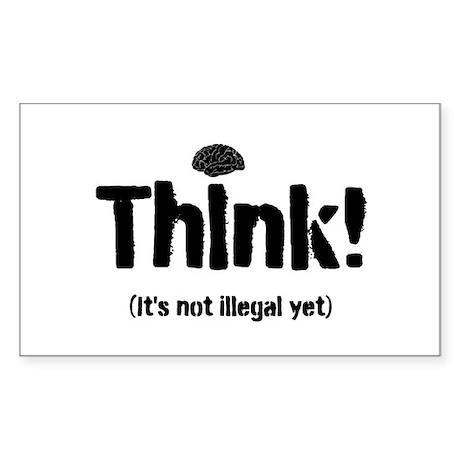 Think! Sticker (Rectangle)