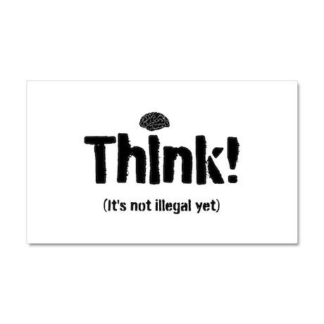 Think! Car Magnet 20 x 12
