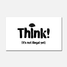Think! Car Magnet 20 x 12
