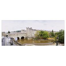 Bridge across a river, Pulteney Bridge, River Avon Poster