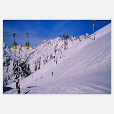 Tourists skiing on snow, Rendl, St. Anton, Austria