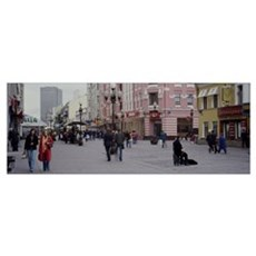 Group of people walking on the street, Arbat Stree Poster