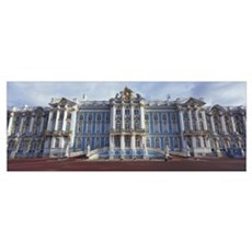 Facade of a palace, Catherine Palace, Pushkin, St. Poster