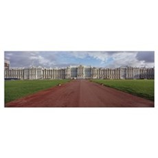 Dirt road leading to a palace, Catherine Palace, P Poster