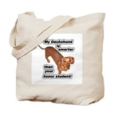 Honor Student Dachshund Dog Tote Bag