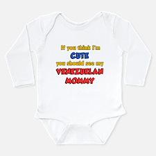 Cute Venezuelan Mommy Long Sleeve Infant Bodysuit