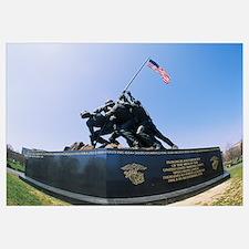 Statues at a war memorial, Iwo Jima Memorial, Arli
