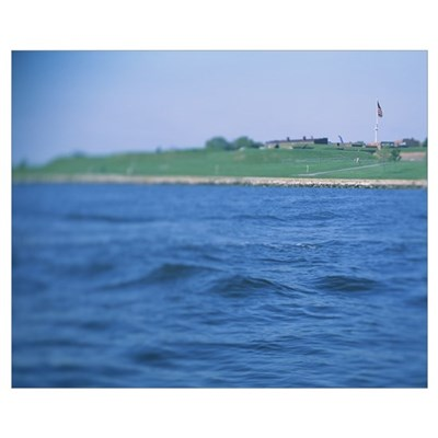 Fort at the waterfront, Fort McHenry, Baltimore, M Canvas Art