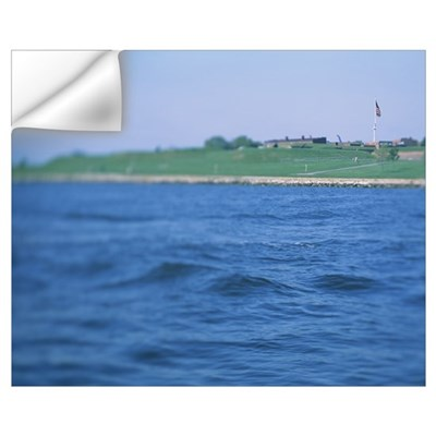 Fort at the waterfront, Fort McHenry, Baltimore, M Wall Decal