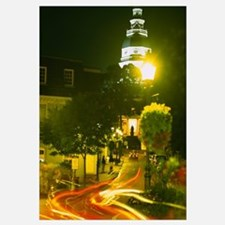 High angle view of a downtown street, Annapolis, M