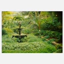 Fountain in a garden, Secret Garden, Savannah, Geo
