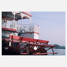 Ferry in a river, Georgia Queen Riverboat, Savanna