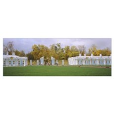 Lawn in front of a palace, Catherine Palace, Pushk Poster