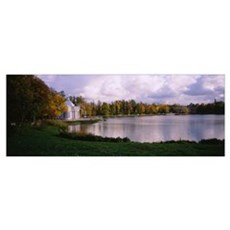 Palace at the lakeside, Catherine Palace, Pushkin, Poster