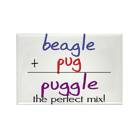 Puggle PERFECT MIX Rectangle Magnet