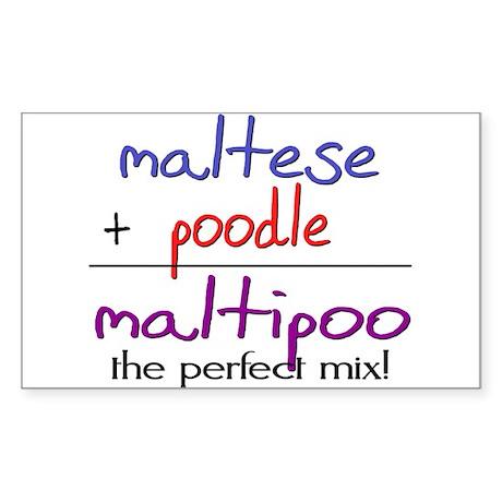 Maltipoo PERFECT MIX Sticker (Rectangle)