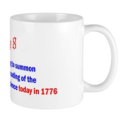 Mug: Liberty Bell was rung to summon Philadelphia