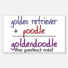 Goldendoodle PERFECT MIX Sticker (Rectangle)