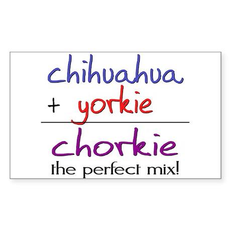 Chorkie PERFECT MIX Sticker (Rectangle)