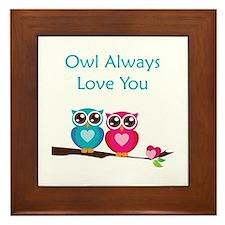 Owl Always Love You Framed Tile