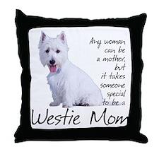 Westie Mom Throw Pillow