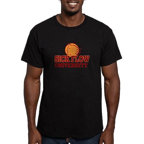 Sick Flow University Men's Fitted T-Shirt (dark)