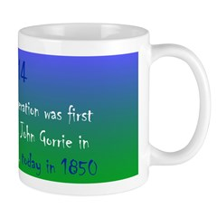 Mug: Ice making by refrigeration was first demonst