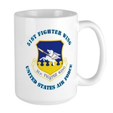 51st Fighter Wing with Text Mug