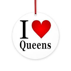 I Love Queens Ornament (Round)