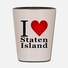 I Love Staten Island Shot Glass