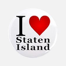 """I Love Staten Island 3.5"""" Button"""