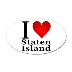 I Love Staten Island 38.5 x 24.5 Oval Wall Peel